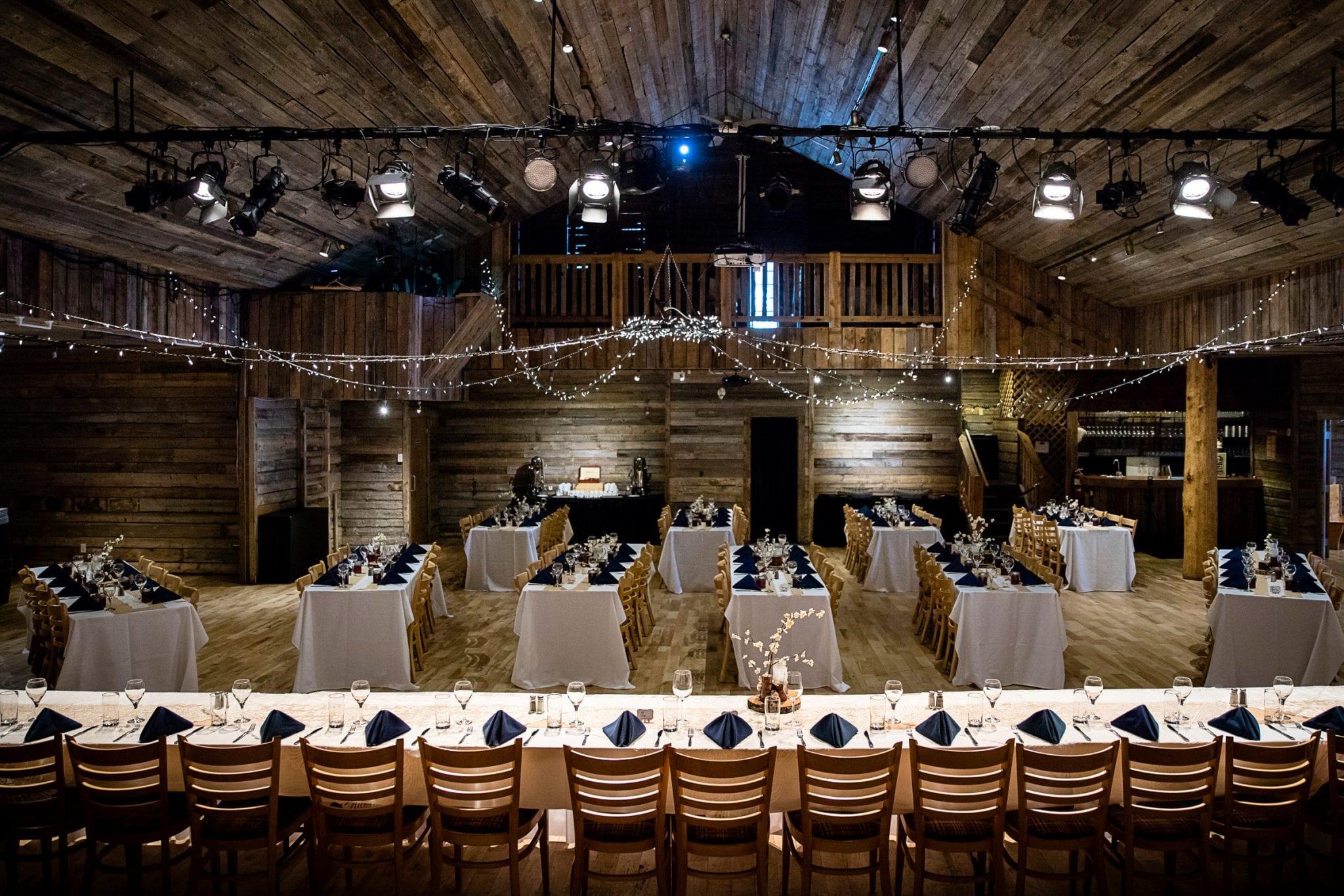 cornerstone theatre canmore, corporate event, banquet dinner