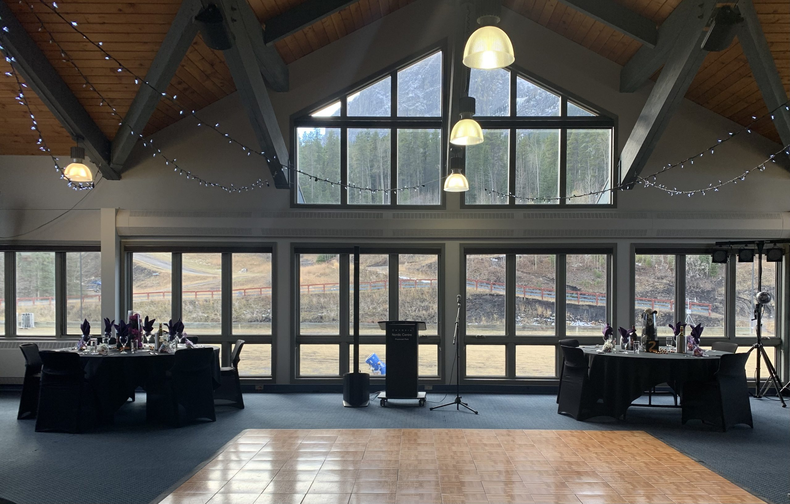 Event venues in AB, Canmore Nordic Centre banquet room, corporate meeting